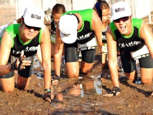 150-meter mud crawl before Conquering.  (photo courtesy of Photo-Ops)